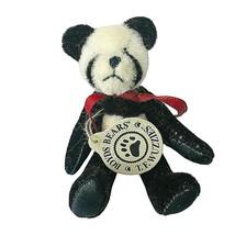 Boyd's Bears T F Wuzzie Panda Jointed Mini Plush With Tag Ornament Minia... - $12.38