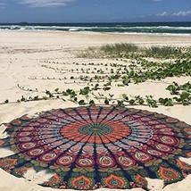 Barmeri Floral Bohemian Style Boho Cotton Beach Roundies Tapestry  - $17.99