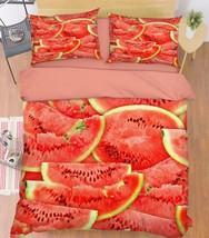 3D Watermelon 04 Bed Pillowcases Quilt Duvet Cover Set Single Queen King... - $90.04+