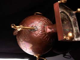 Antique Samovar - 1800's teapot - steampunk design - Russian Copper kettle with  image 6