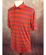 Bobby Jones XH20 Golf Pullover Polo Polyester Blend Orange Stripe Shirt ... - $18.41