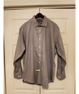 Black Brown 80's 2-Ply Retors Deux Brins 80s 1734 Slim Fit Non-Iron Shirt - $19.75
