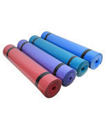 Yoga Mat 6mm Non Slip Exercise Fitness Thick Pad Lose Weight Durable Pil... - $20.90