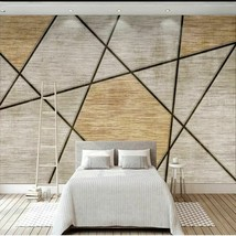 New Any Size Murals Wallpaper Chinese Creative Wood Grain Photo Cloth Re... - $13.42