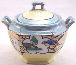 Vintage Takito Moriage Style Lusterware Sugar Bowl with Lid Japan, 20's ... - $21.77
