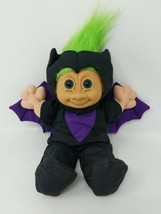 "Russ Troll Doll 12"" Radar the Bat Costume Green Hair VTG Halloween Plush... - $14.84"