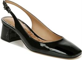 Sam Edelman Patent Leather Sling-Back Pumps Tamra Black 6.5M NEW A376571 - $67.30