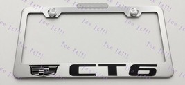 For Cadillac CT6 Stainless Steel License Plate Frame Rust Free W/ Bolt Caps - $12.86