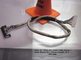 """Vizio 32"""" D32x-D1 LVDS Cable From-> Main Board To-> T-Con Length 19.5"""" - 4 - $14.03"""