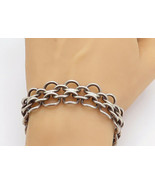 MEXICO 925 Sterling Silver - Vintage Chunky Round Link Chain Bracelet - ... - $160.08