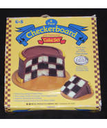 G & S Checkerboard Cake Set 4 Piece Set Original Box - $9.99