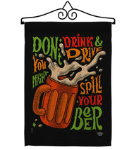 Don't Drink Beer - Impressions Decorative Metal Wall Hanger Garden Flag ... - $27.97