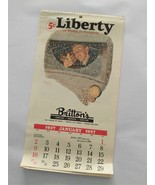 1927 LIBERTY 12 MONTH CALENDAR BRITTONS FURNITURE VENICE FLA 1981 REPRINT - $24.70