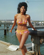 Pam Grier Sexy busty pin up glamour pose barefoot bikini 1970's 16x20 Ca... - $69.99