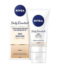 NIVEA Daily Essentials Tinted Moisturising Day Cream Light SPF 15 50ml - $12.62