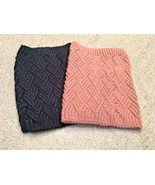 Lot Of 2 Zara Pink & Navy Knit Neck Warmers (One Size) - $13.10