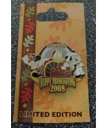 Disney Pins - Happy Thanksgiving 2008 - Mickey Minnie Donald - LIMITED -... - $8.77