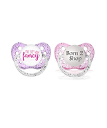 Girls Shopaholic Pacifier Set - Born To Shop Binky - I'm So Fancy Paci -... - $12.99