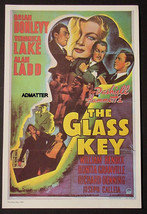MOVIE AD POSTER THE GLASS KEY VERONICA LAKE ALAN LADD BRIAN DONLEVY 1942... - $14.49
