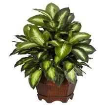 24 in. H Green Golden Dieffenbachia Silk Plant - $84.72