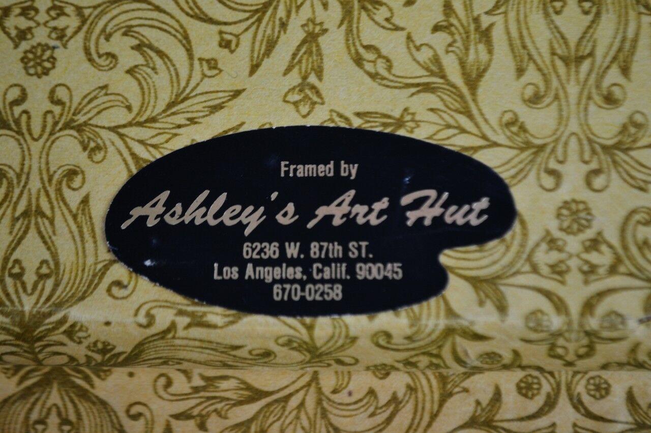 Vintage Professionally Framed Needlepoint Art