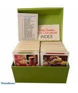 Vintage 1971 Betty Crocker Recipe Card Library Cookbook Box Retro Green - $34.64