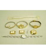 Vintage Time Ladies Wrist Watch Speidel Bands PARTS Lot winding quartz 5... - $23.75