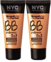 NYC Smooth Skin BB Crme Bronzed Radiance LIGHT #4 (Set of 2) - $19.99
