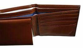 Nautica Men's Premium Leather Credit Card Id Wallet Billfold Tan 31Nu22X023 image 8