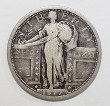 1917 Type 1 STANDING LIBERTY QUARTER COIN Lot # 818-17