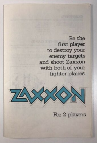 Primary image for Vintage ZAXXON Board Game Instructions Booklet Replacement Pieces Parts