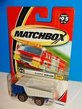 Matchbox Build It Series #95 Earth Mover Dump Truck Blue & Gray w/ Metal Bed - $4.00
