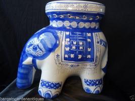 Vintage Porcelain Oriental Elephant Garden Seat Centrepiece - $366.76