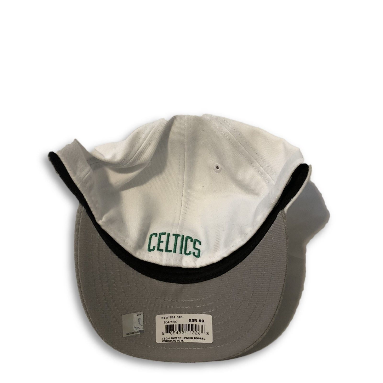 NWT New Boston Celtics New Era 59Fifty Low Profile Tech Sweep Size 8 Fitted Hat image 2