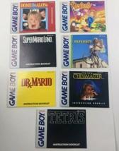 Gameboy Instruction Booklet Lot of 11 Owner's Manuals Tetris Paperboy Dr. Mario - $19.34