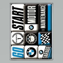 BMW Magnets! Quality German Motor Cars 9 Piece Magnet Gift Set - $10.94