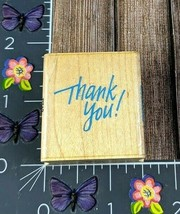 Hero Arts Thank You Calligraphy Rubber Stamp 1992 Wood B712 #L100 - $1.73