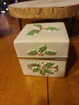 """Lenox 8"""" Holly Box - $25.00"""