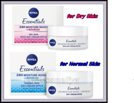 Nivea Essentials 24 Moisture Boost + Refresh or Nourish Day Cream SPF 15... - $13.49