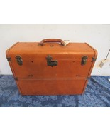VTG Suitcase Briefcase Winship Luggage Salesman Leather Business Travel ... - $74.32