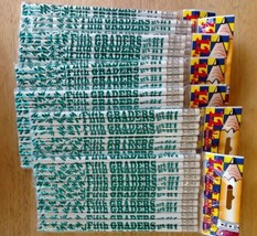 Fifth Graders Are #1 No. 2 Pencils 7 Packs of 12 Each Teal Metallic Real... - $23.34