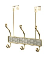 Over The Door 6 Hook Hanger with Faux Diamonds, Gold - $16.81