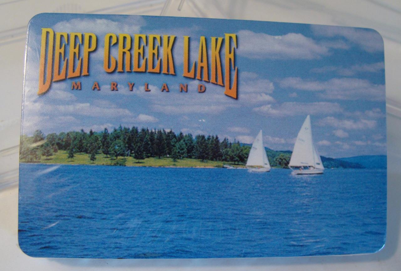 VTG NOS Deep Creek Lake Maryland MD Playing Cards MIB Old Store Stock Sailboat