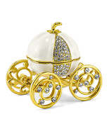 Non Metal Bejeweled After Midnight Pumpkin Coach Trinket Box (Length=2.9... - $54.31