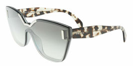 PRADA HIDE 16T PR16TS Silver Grey Sand Havana Translucent Shield Sunglasses - $211.50