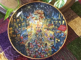 Bill Bell 'Purring In The Mew Year' Collectible Plate Franklin Mint Heirloom #'d - $27.60