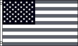AMERICAN BLACK AND GRAY UNITED STATES 3 X 5 FLAG banner FL698 USA AMERICA - $6.27