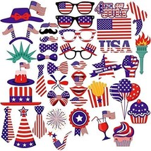 PBPBOX 4th Of July Photo Booth Props For Independence Day Party Decorations - - $27.89