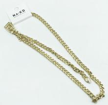 Na-Kd Chunky Gold Tone Buckle Chain Belt Size Medium - $12.99