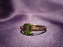 Modern Arc Set Bright Peridot ISG 10K Gold Ring Size 10 - $321.75